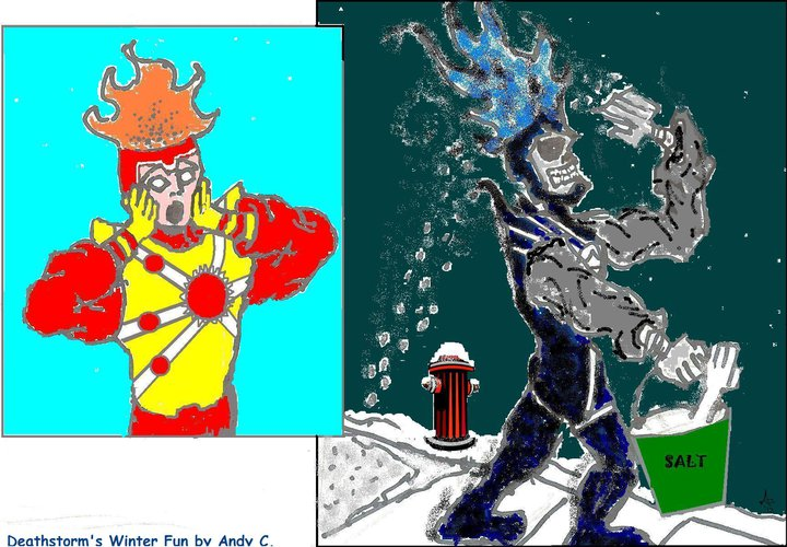 Deathstorm's Winter Fun! Featuring Firestorm! By A.j. Chwaster