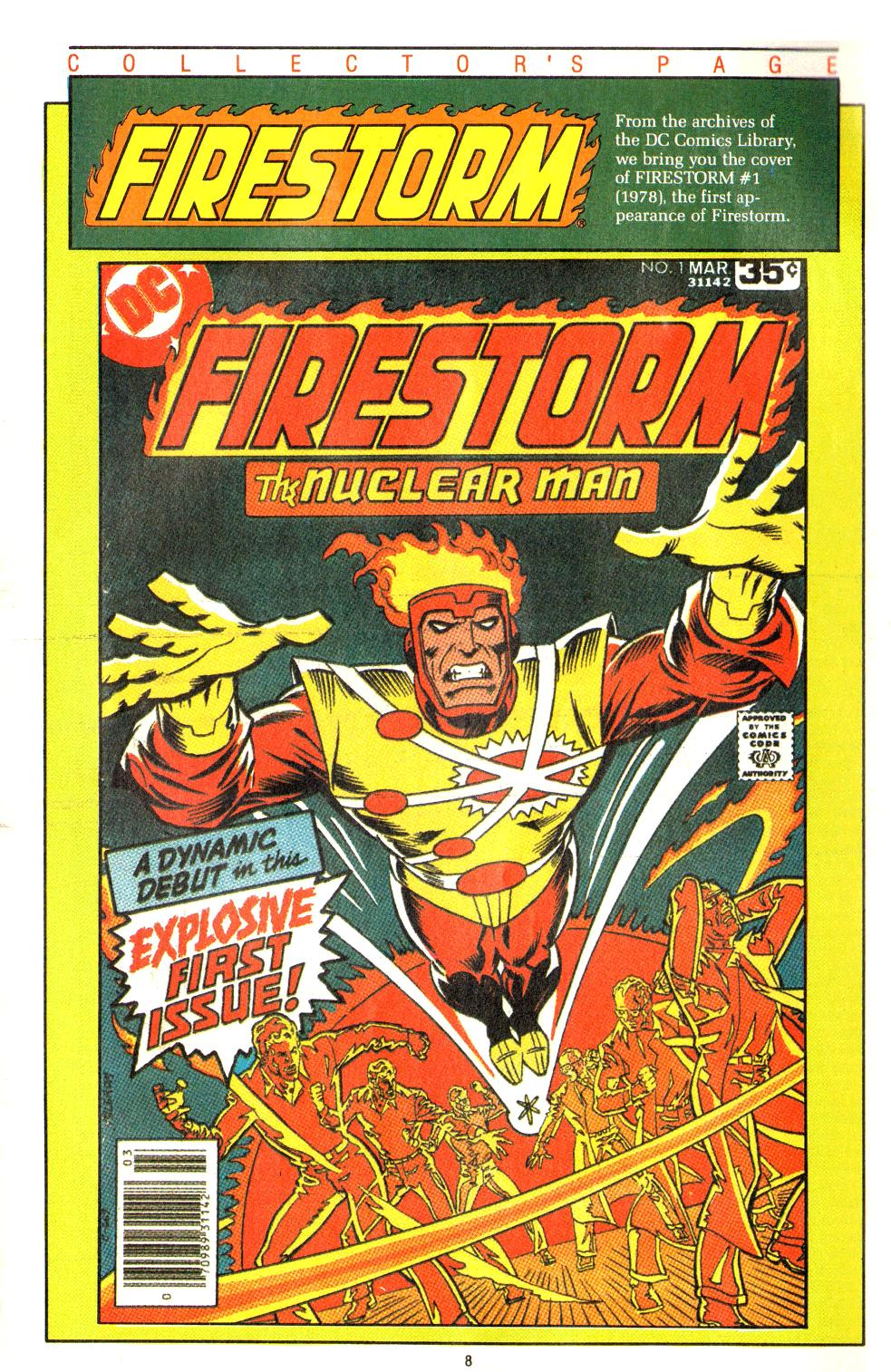 Direct Currents #16 back cover featuring Firestorm by Al Milgrom