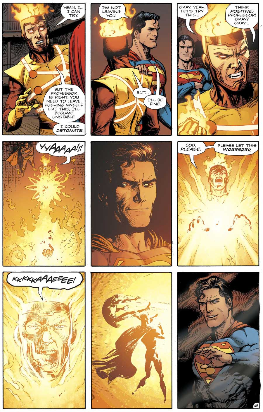 Doomsday Clock #8 by Geoff Johns and Gary Frank featuring Firestorm