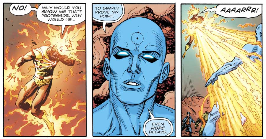 Doomsday Clock #9 by Geoff Johns and Gary Frank featuring Firestorm