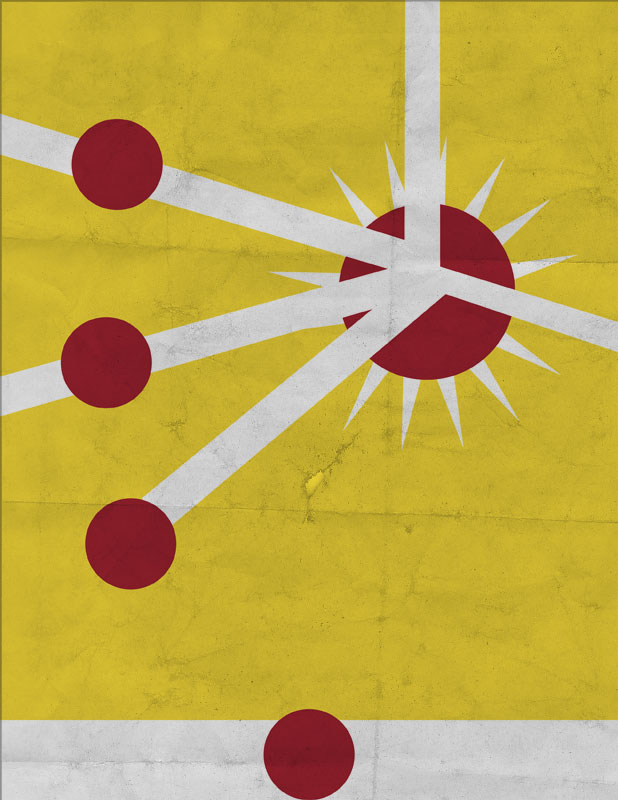 Firestorm Minimalist Poster by Dustin Von Doom