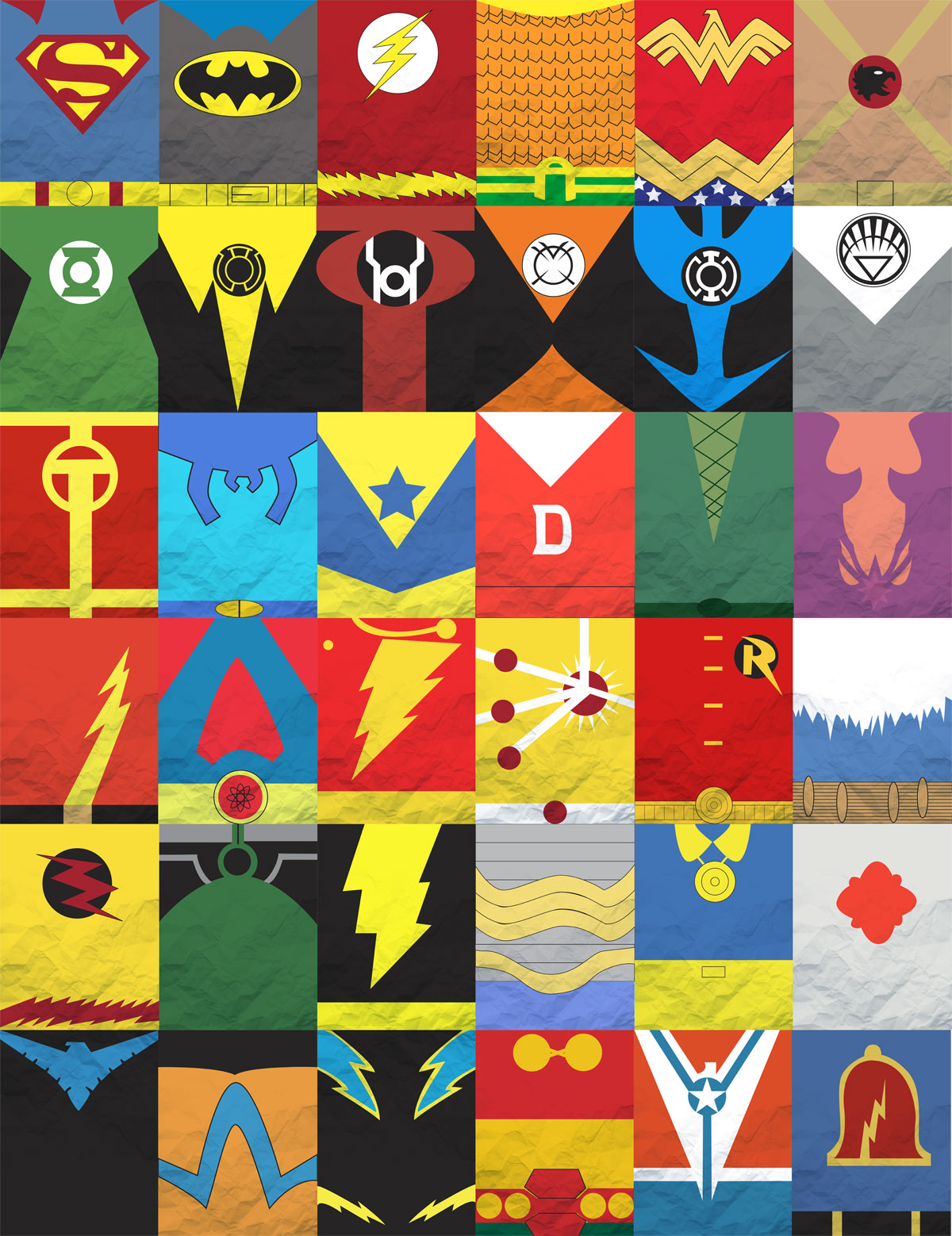 DC Comics Minimalist Poster by Dustin Koetsch