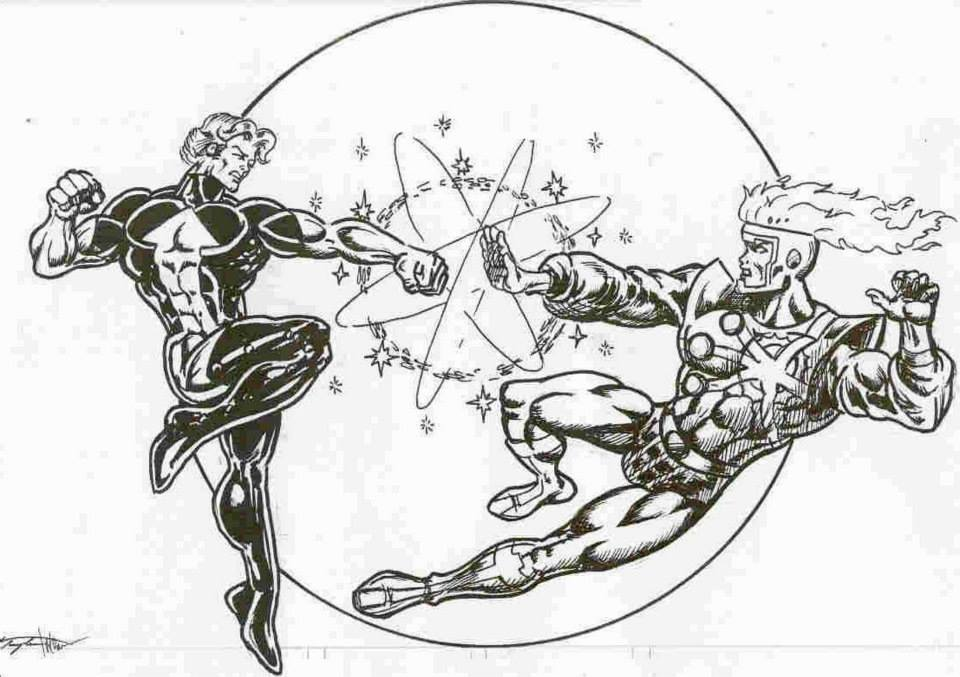 Element Lad vs Firestorm by Peter Temple and Mark Brown
