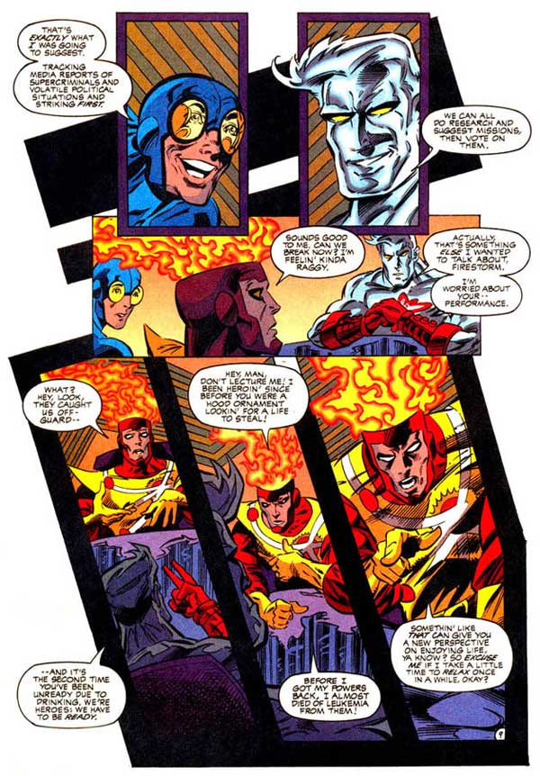 Firestorm and alcoholism in Extreme Justice #16