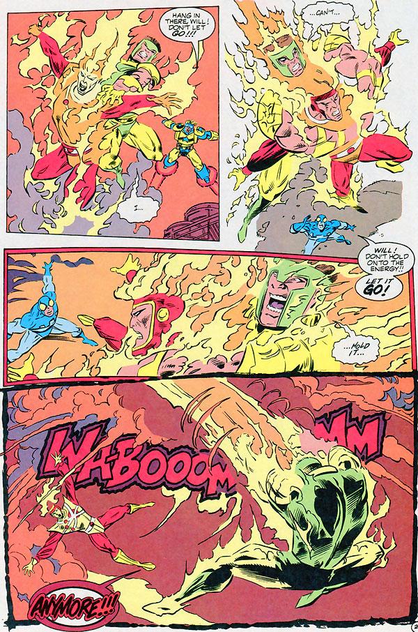Extreme Justice #4 - Firestorm - How Ronnie Raymond beat cancer and got his powers back