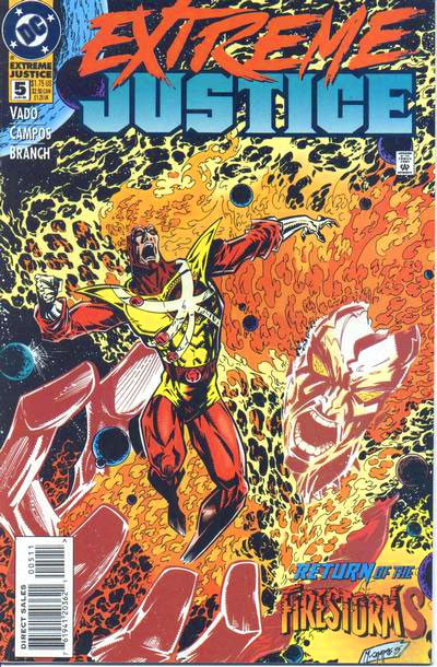 Extreme Justice #5 featuring Firestorm