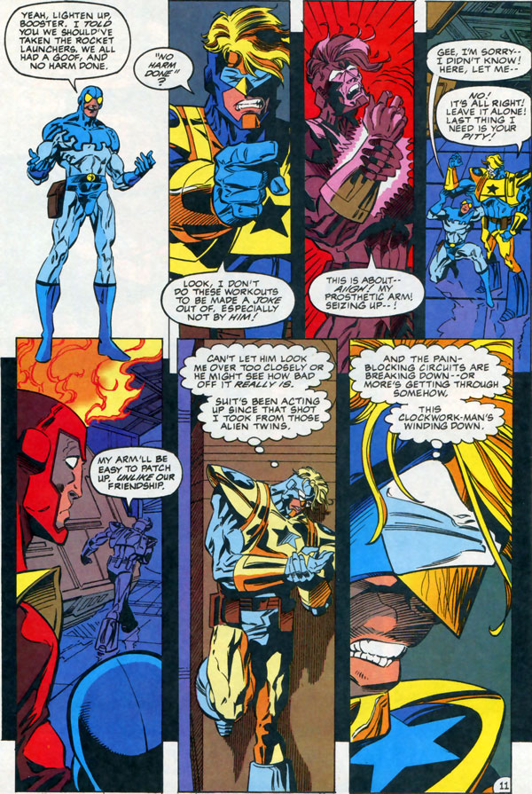 Extreme Justice #12 featuring Booster Gold, Blue Beetle, and Firestorm