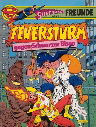 Firestorm versus Black Bison in German - Feuersturm gegen Schwarzer Bison