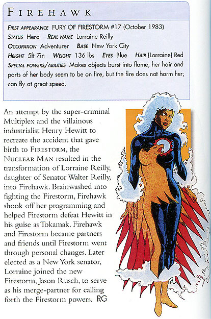 Firehawk from the DC Comics Encyclopedia, Updated and Expanded