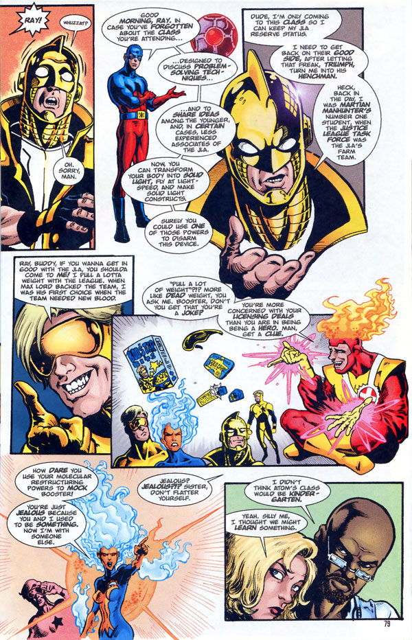 Guide to the DC Universe 2000 Secret Files: Higher Learning with Firestorm, Firehawk, and Booster Gold