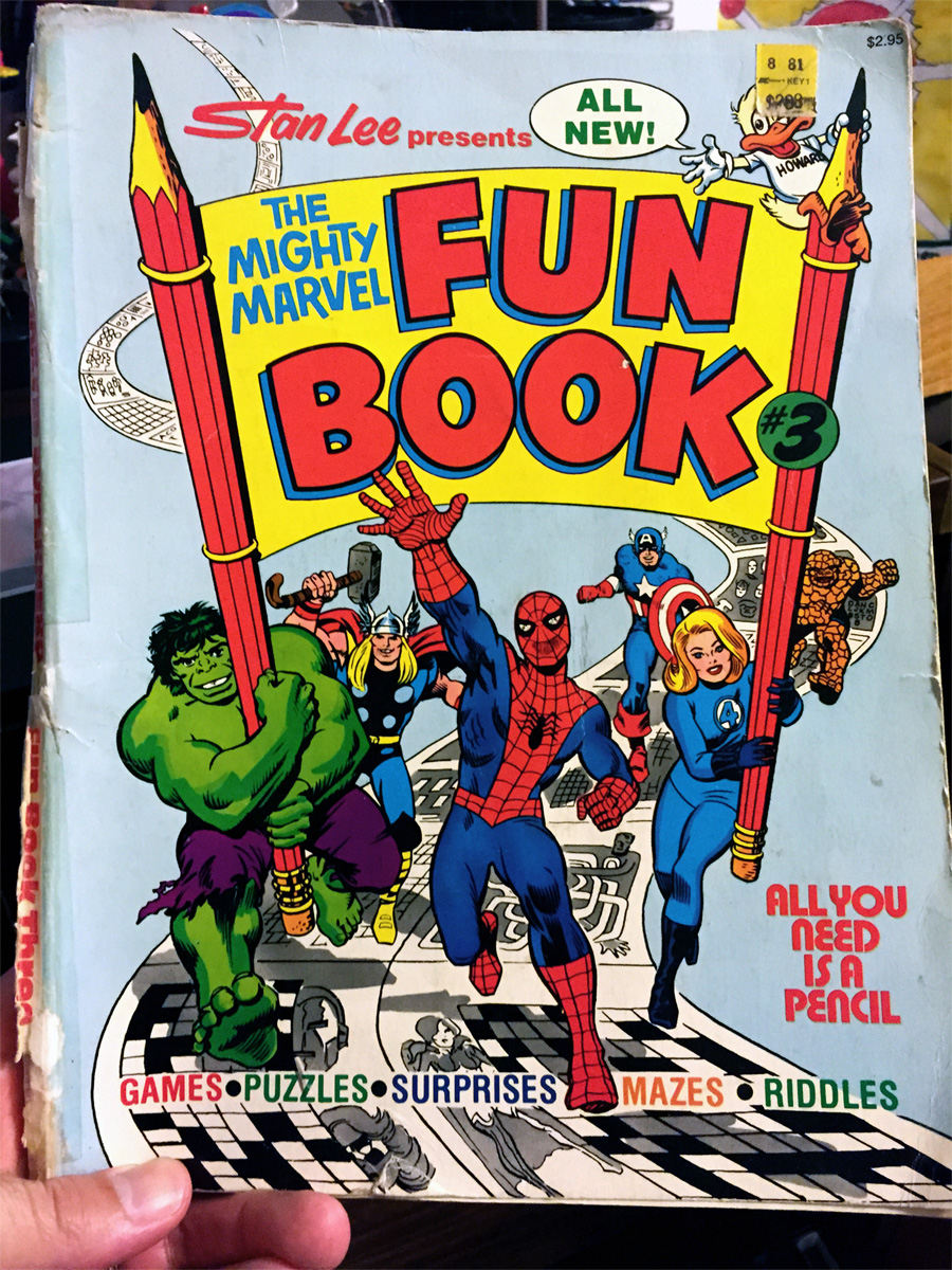 Mighty Marvel Fun Book from Fireside