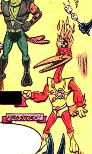 Firestork of the Just'a Lotta Animals from Captain Carrot and His Amazing Zoo Crew