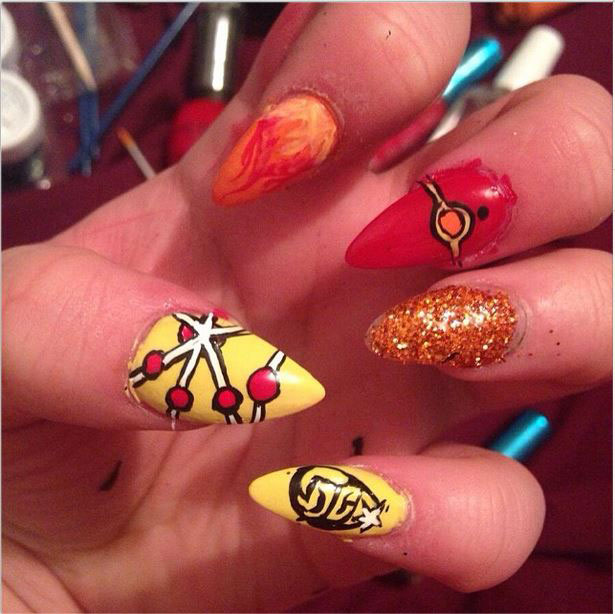 Emma Hannah's Firestorm Fingernails