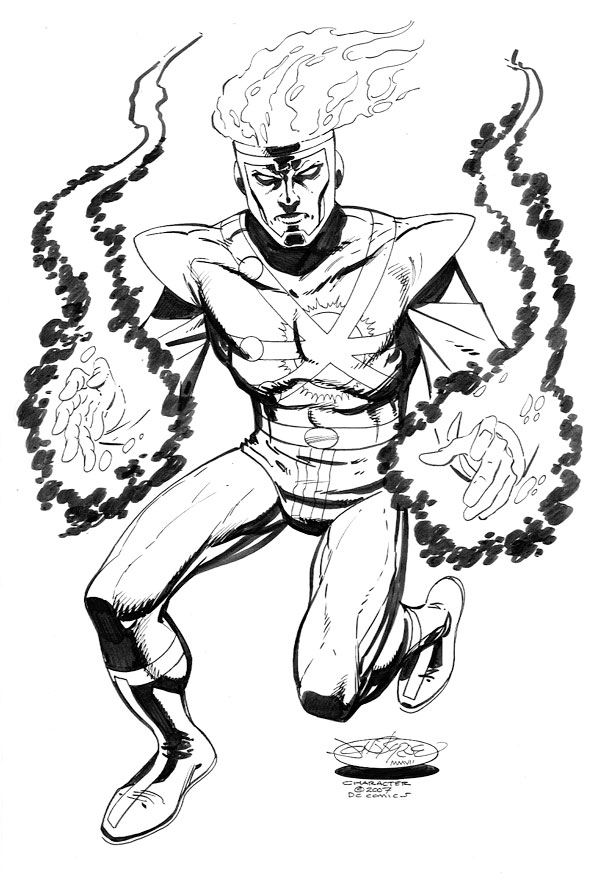 Firestorm sketch by John Byrne