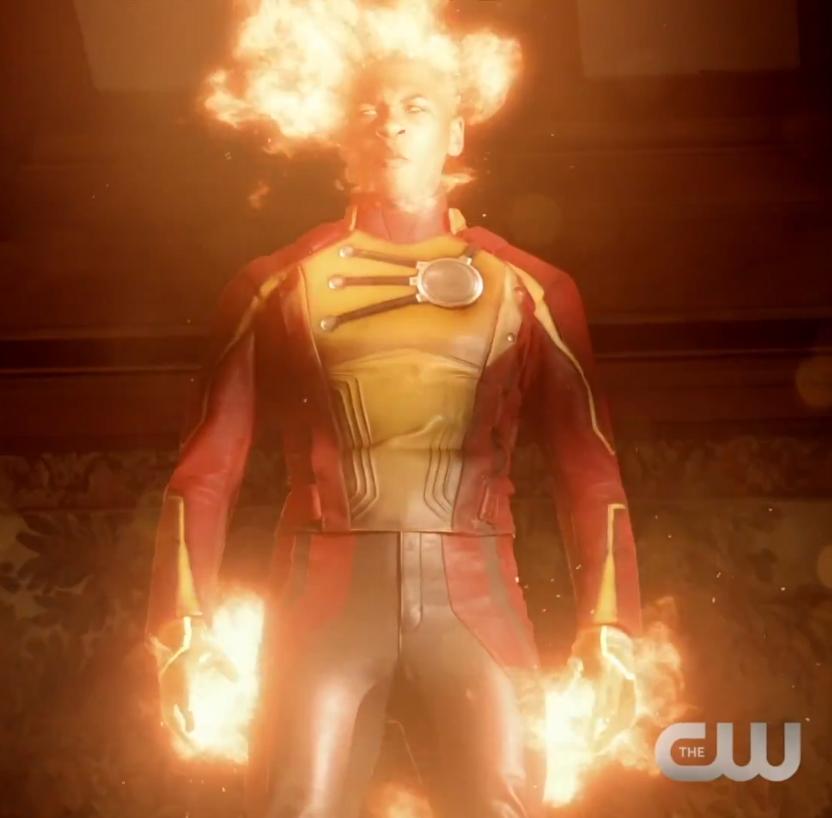 Franz Drameh as Firestorm on Legends of Tomorrow