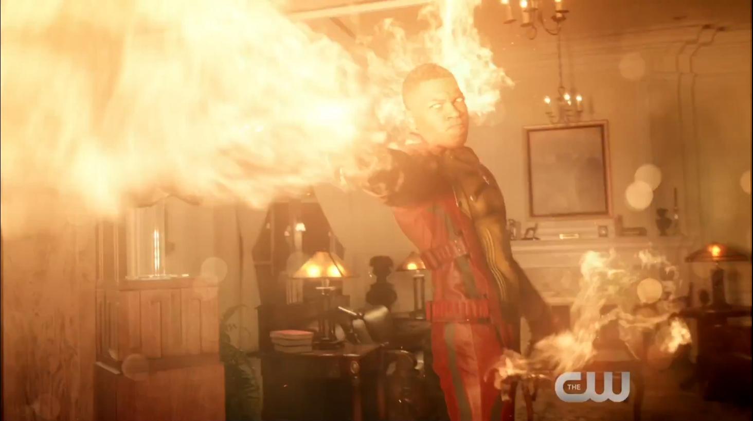 Franz Drameh as Firestorm and Jefferson Jackson Jax on Legends of Tomorrow