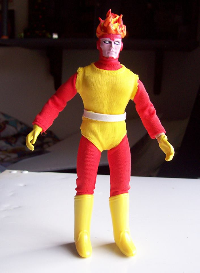 Firestorm custom Mego action figure - Work in Progress