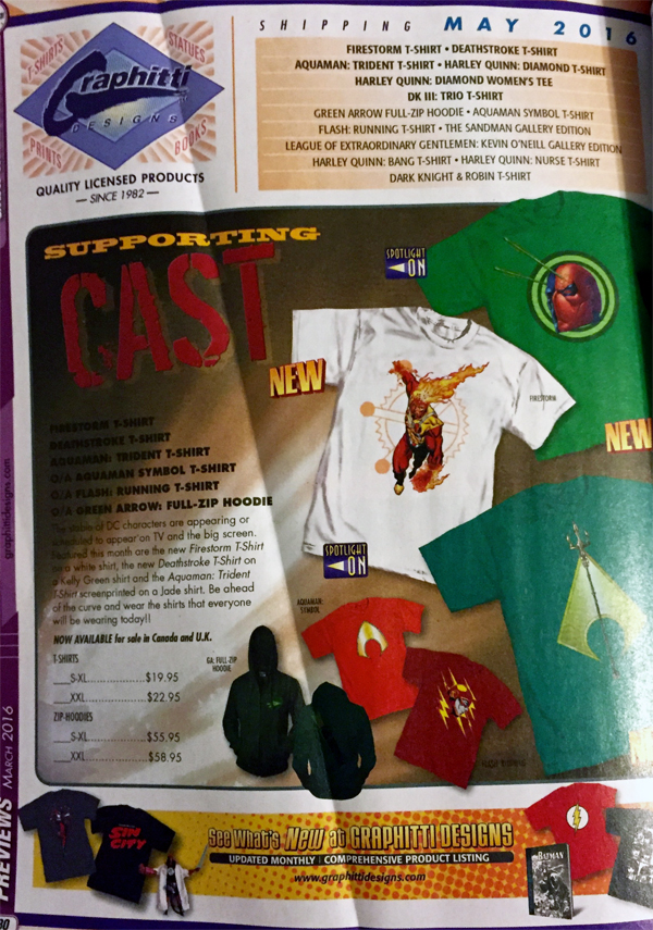 Firestorm T-Shirt from Diamond Previews March 2016