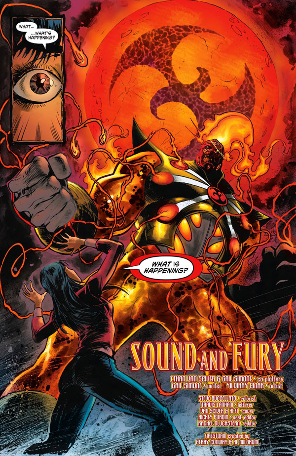 Fury of Firestorm: The Nuclear Men #2 page 1 by Ethan Van Sciver, Gail Simone, Yildiray Cinar