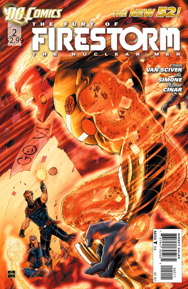 Fury of Firestorm: The Nuclear Men #2 cover by Ethan Van Sciver