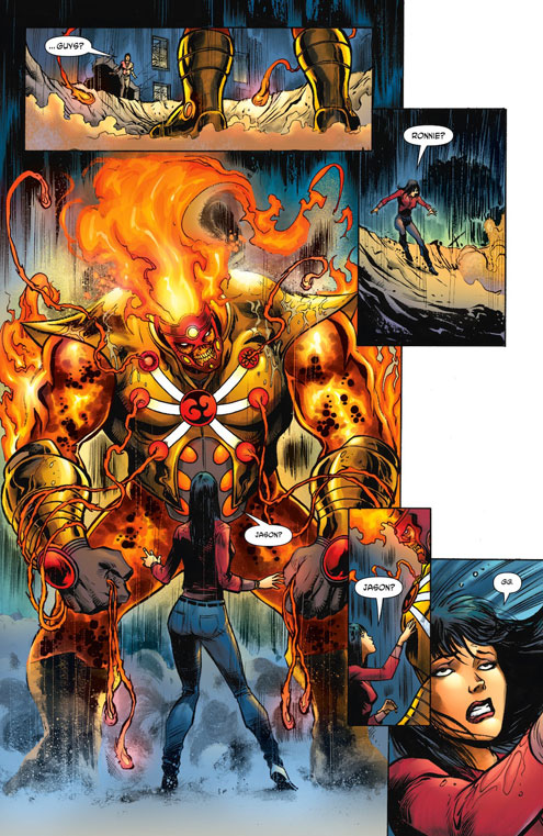 Fury of Firestorm: The Nuclear Men #2 page 1 by Yildiray Cinar and Steve Buccellato