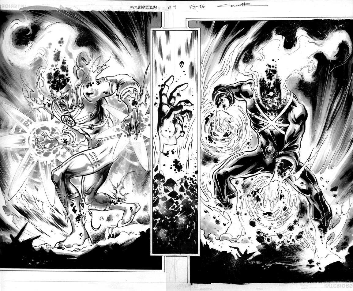 Fury of Firestorm #1 pages by Yildiray Cinar