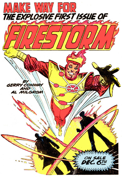 Firestorm the Nuclear Man advertisement 1977