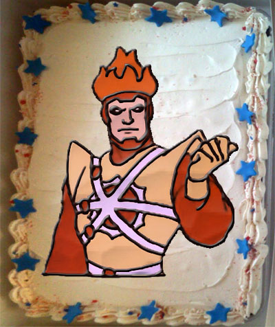 Happy Birthday Cake for Firestorm the Nuclear Man!