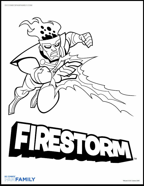 Firestorm from Batman Brave and the Bold  - coloring page on DC Comics website