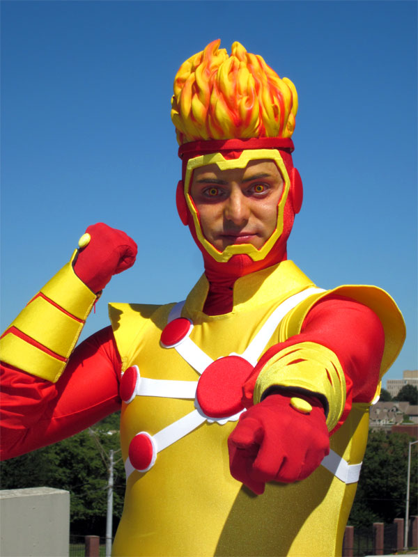Brad West as Firestorm at Dragon*Con 2010