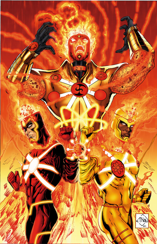 Fury of Firestorm #1 cover by Ethan Van Sciver, Gail Simone, and Yildiray Cinar