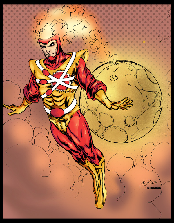 Firestorm drawn by Bat Hilliard and colored by Brandon DP