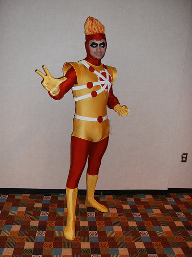 Allen Hansard as Firestorm at Dragon*Con 2008