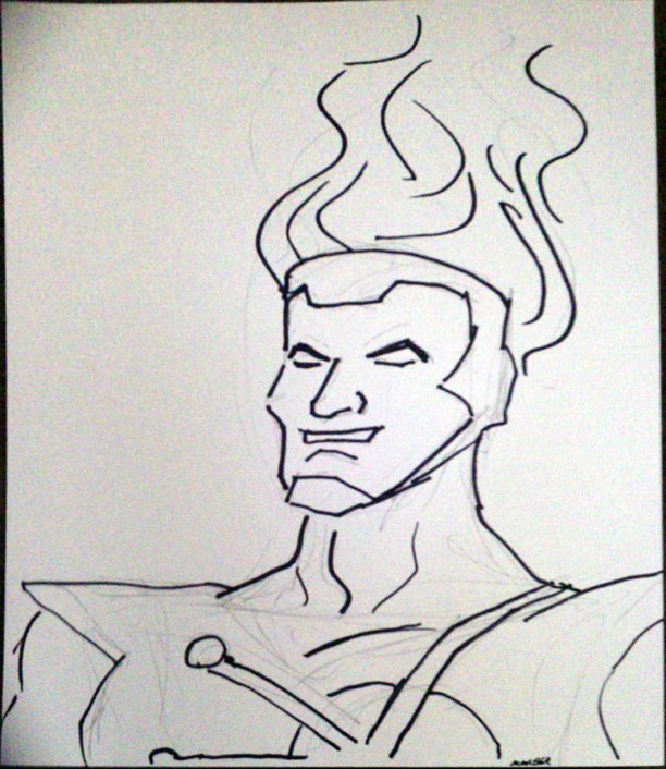 Firestorm sketch from Starbase 21 in Tulsa