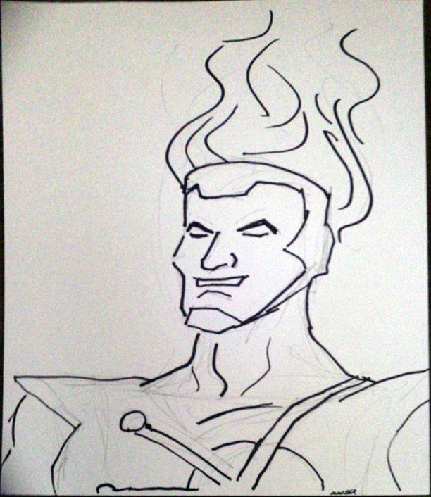 Firestorm sketch from Starbase 21 in Tulsa