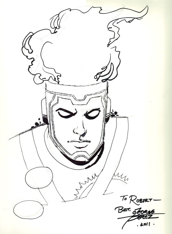 Firestorm by George Perez from MegaCon