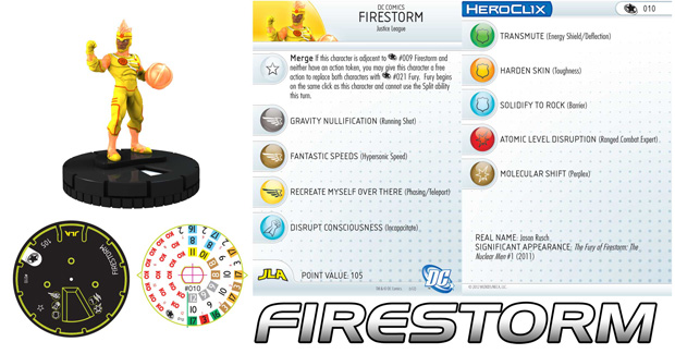 DC Heroclix Justice League New 52 Firestorm - Jason Rusch
