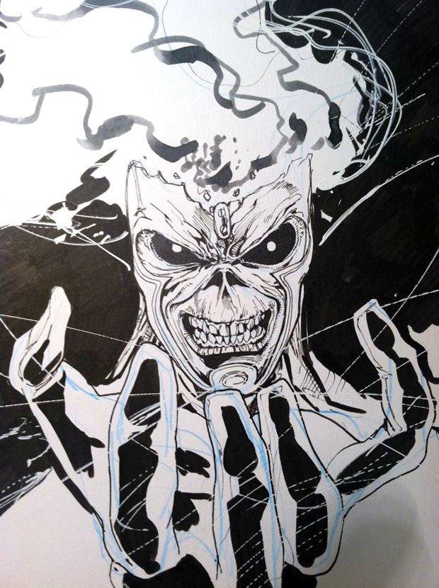 Eddie from Iron Maiden as Firestorm by Ethan Van Sciver and Joe Harris