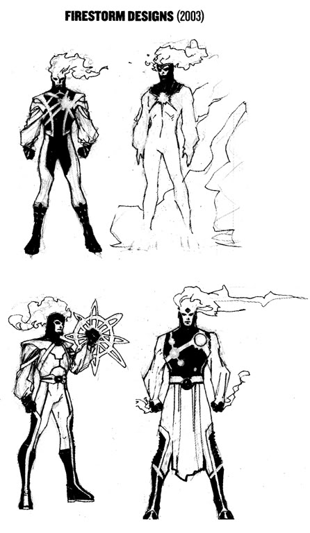 Firestorm redesign by Jim Lee from 2003