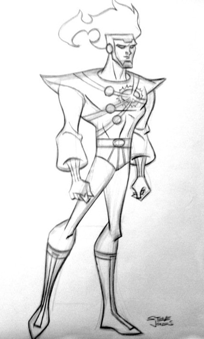 Firestorm in Justice League Unlimited by Steve Jones
