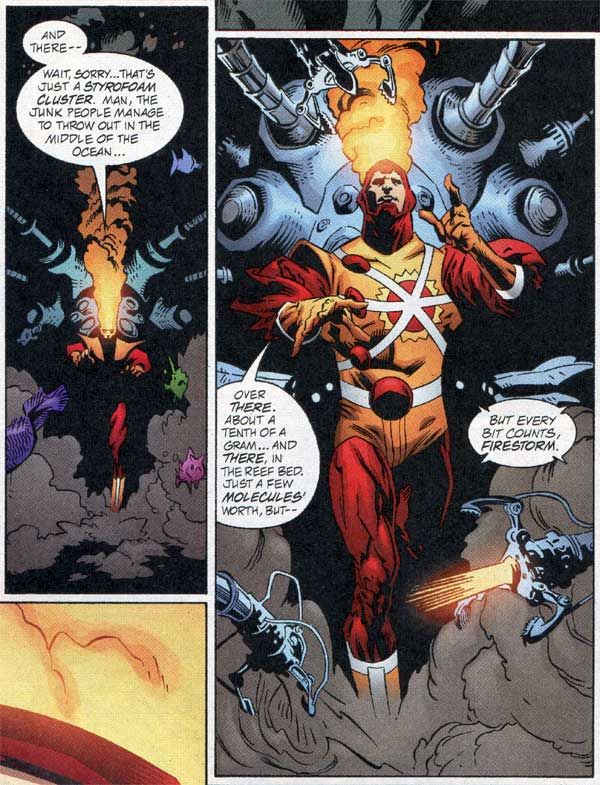 Firestorm by Lewis LaRosa and Al Milgrom from JLA #76