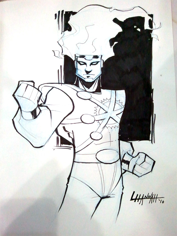 Firestorm sketch by Leanne Hannah