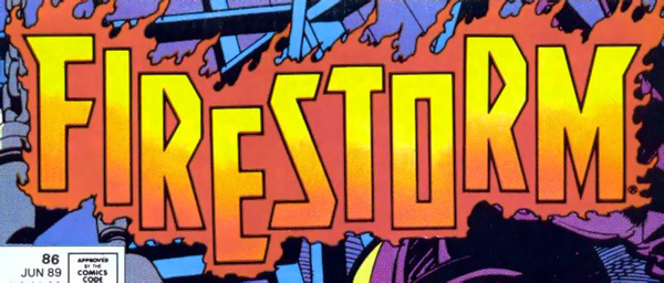 Firestorm the Nuclear Man vol 2 logo - John Ostrander and Tom Mandrake