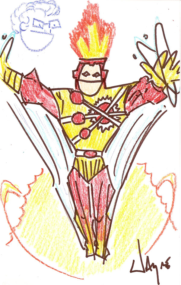 Lousy Sketch Firestorm by Wayne