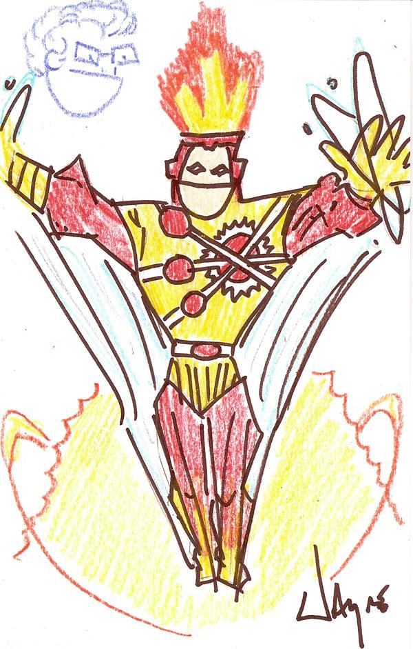 Lousy Sketch Firestorm by Wayne