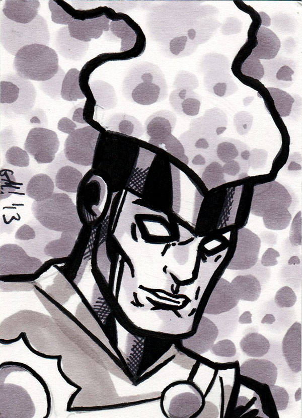 Firestorm sketch card by George Marston
