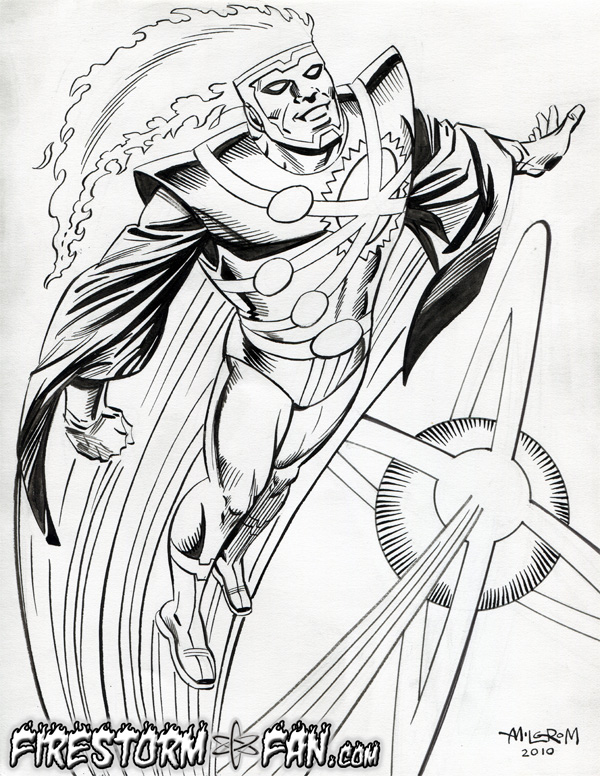 Firestorm original sketch by Al Milgrom 2010 for FIRESTORM FAN.com