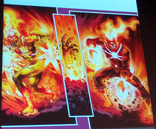 Firestorm Yildiray Cinar artwork from San Diego Comic-Con panel SDCC