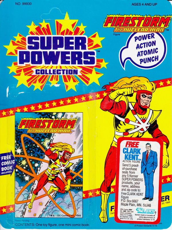 Firestorm Super Powers Action Figure Card