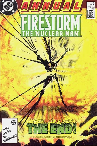 Firestorm The Nuclear Man Annual #5 written by John Ostrander